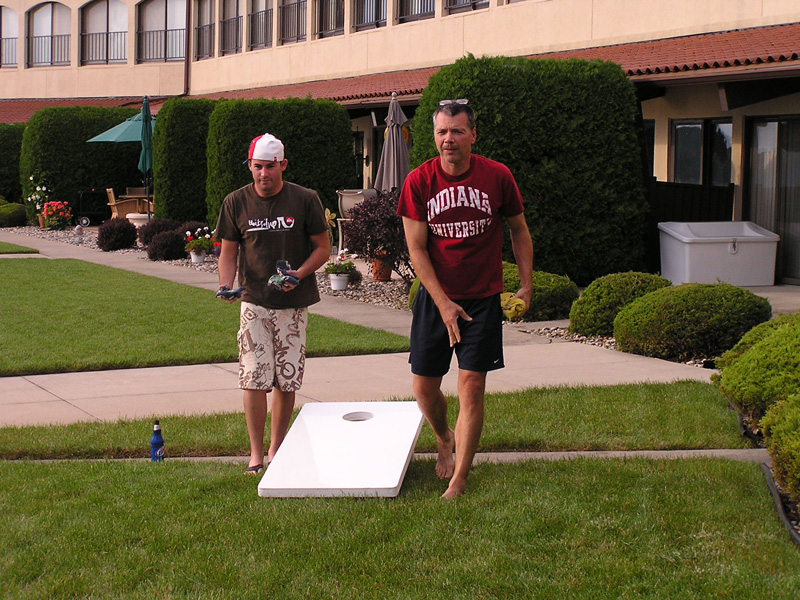 Cornhole on July 4th, 2010