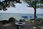 Large Outdoor Grill Area Overlooking Lake Wawasee